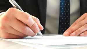 書類 契約書